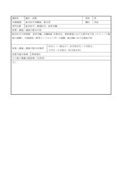 講師名 藤田 真敬 性別 男 所属機関 航空医学実験隊 第 2 部 職位 部長