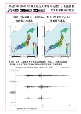 平成23年(2011年)東北地方太平洋沖地震による強震動 - K-NET, KiK-net