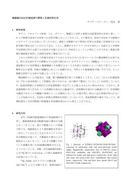 強磁場NMR計測技術の開発と先進材料応用 サブテーマリーダー:清水
