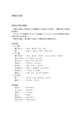牟岐の方言(7.9KBytes)