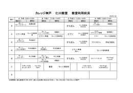 カレッジ神戸 仁川教室 教室利用状況