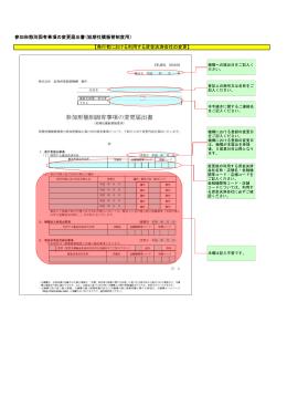 参加形態別固有事項の変更届出書(短期社債振替制度用) 【発行者