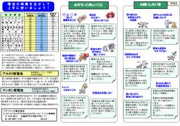 乾電池の正しい使い方 [PDFファイル:586KB]