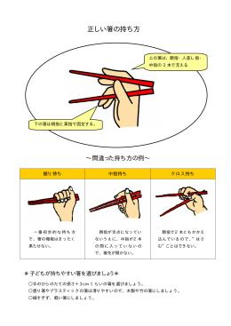 正しい箸の持ち方(PDF:40KB)