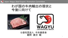 ニわが国の牛肉輸出の現状と今後に向けて
