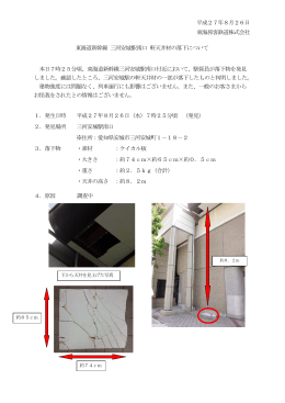 東海道新幹線 三河安城駅南口 軒天井板の落下について