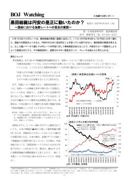 黒田総裁は円安の是正に動いたのか?