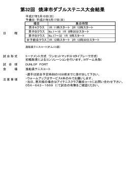 第32回 焼津市ダブルステニス大会結果