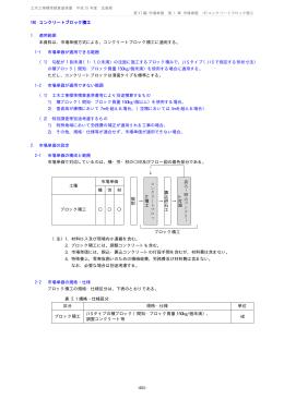 コンクリートブロック積工 16) 1. 適用範囲 本資料は,市場単価方式による