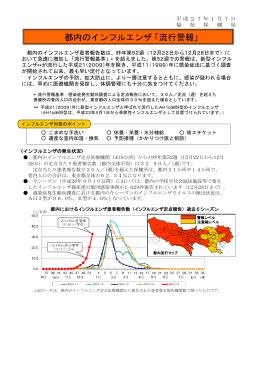 都内のインフルエンザ 「流行警報」