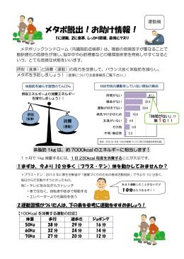 メタボ脱出!お助け情報!運動編(PDF:326KB)