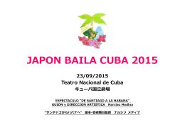 JAPON BAILA CUBA 2015