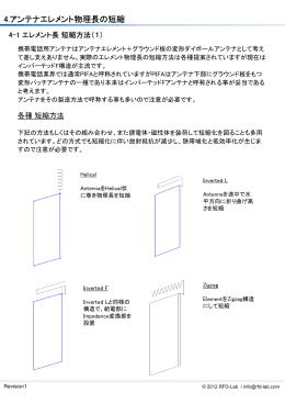 4.アンテナエレメント物理長の短縮 - RFD-Lab
