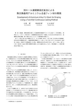 双ロール連続鋳造圧延法による 熱交換器用アルミニウム合金フィン材の