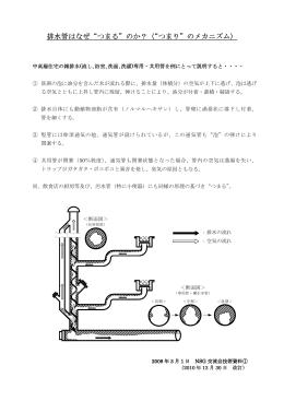 """排水管はなぜ""""つまる""""のか?(""""つまり""""のメカニズム)"""