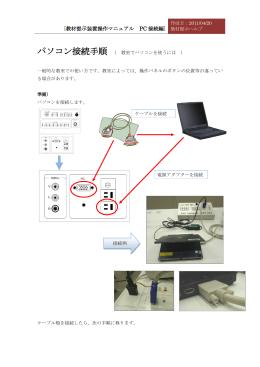 [教材提示装置操作マニュアル PC 接続編 ]