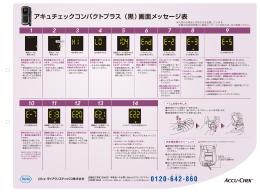 アキュチェックコンパクトプラス(黒)画面メッセージ表