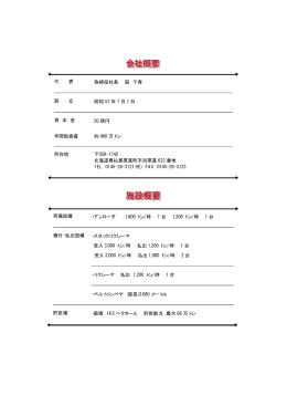 代 表 取締役社長 脇 千春 設 立 昭和 57 年 7 月 1 日 資 本 金 50 億円