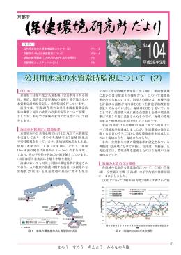 公共用水域の水質常時監視について(2)