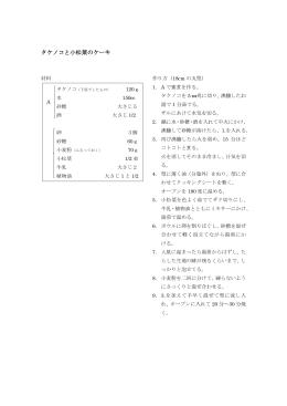 第13号 タケノコと小松菜のケーキレシピはこちら