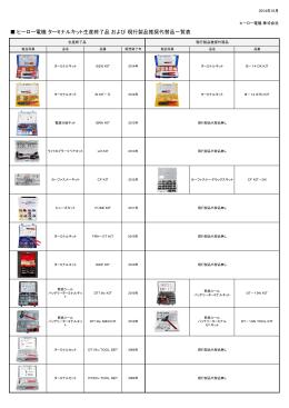 ヒーロー電機 ターミナルキット生産終了品 および 現行製品推奨代替品