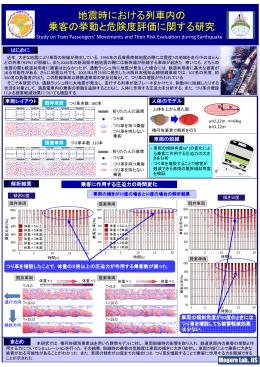 地震時における列車内の 乗客の挙動と危険度評価