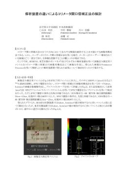 解析装置の違いによるコリメータ開口径補正法の検討