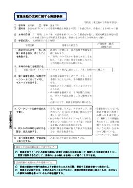 言語活動の充実に関する実践事例