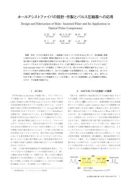 ホールアシストファイバの設計・作製とパルス圧縮器への応用