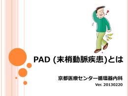 PAD (末梢動脈疾患)とは