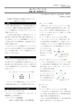 良いグループワークとは ~最適人数と相乗効果から~ グループワーク