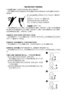 「脳の老化を防ぐ手指体操」