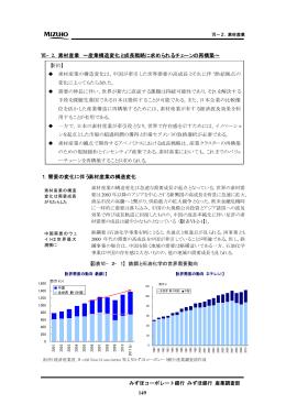 149 Ⅵ−2. 素材産業 ∼産業構造変化と成長戦略に求め