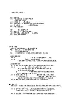 辛亥革命後の中国・・・ 1911 辛亥革命 1912 中華民国成立