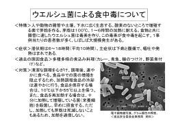ウエルシュ菌による食中毒について