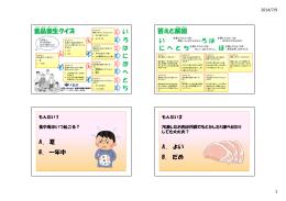 食の安全クイズ2014 [PDFファイル/139KB]