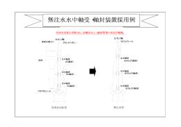 無注水水中軸受・軸封装置採用例