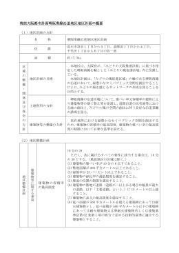 南部大阪都市計画堺阪南線沿道地区地区計画の概要(PDF