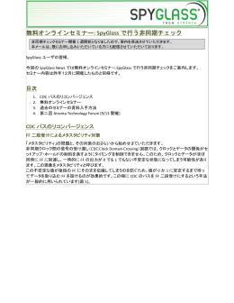 無料オンラインセミナー: SpyGlass で行う非同期チェック
