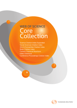 Web of Science Core Collection ファクトシート
