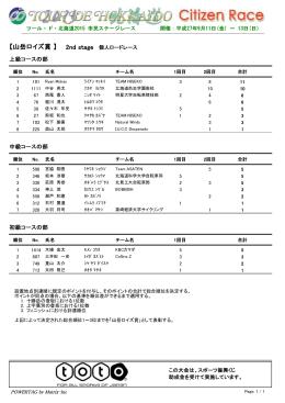 【山岳ロイズ賞 】 - ツール・ド・北海道協会