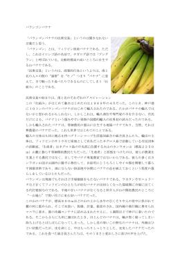 バランゴンバナナ 「バランゴンバナナの民衆交易」というのは聞きなれない