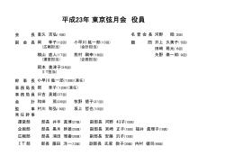 平成23年東京弦月会 役員