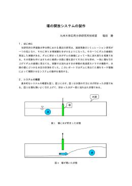 堰の開放システムの製作