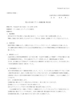 第 1 回大阪マラソン救護活動 報告書