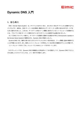 Dynamic DNS入門(PDFファイル)