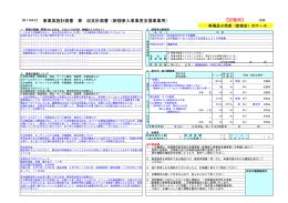 事業実施計画書 兼 収支計画書(新規参入事業者支援事業用