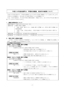 学力・学習状況調査報告