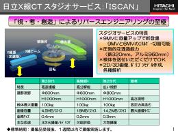 日立X線CTスタジオサービス「ISCAN」 (PDF形式、769k