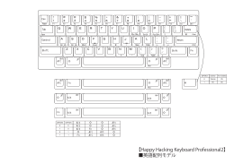 【Happy Hacking Keyboard Professional2】 英語配列モデル